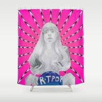 artpop Shower Curtains featuring ARTPOP cover  by Diego Guzman