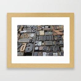 Typeface  Framed Art Print