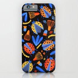 Moody Ladybug Botanical  iPhone Case