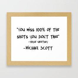 Michael Wayne Gretzky Quote Framed Art Print