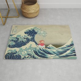 Ponyo and the Great Wave Rug