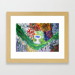 Birdbath in Lady Wisdom's Garden Framed Art Print
