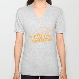 Save The Manatees I - Nature & Wildlife Gift Unisex V-Neck