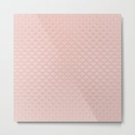 Quilted Peach Texture Pattern Metal Print