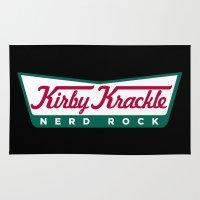 kirby Area & Throw Rugs featuring Kirby Krackle Logo by Kirby Krackle