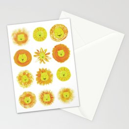 Lion heads Stationery Cards