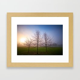 Foggy Morning at Green Lake (Seattle, WA) Framed Art Print
