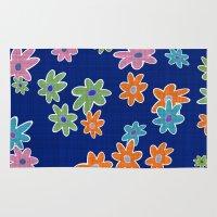 flower pattern Area & Throw Rugs featuring Flower Pattern by Fine2art
