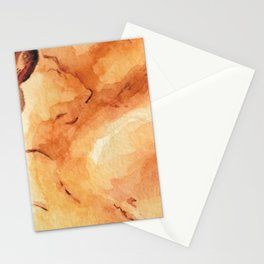 Amber Crystal Watercolor Stationery Cards