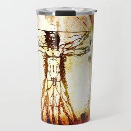 Vitruvian Man - Leonardo Da Vinci Tribute Art Travel Mug