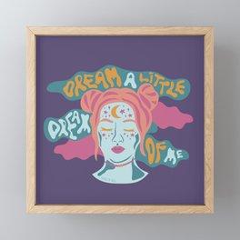 Dream a little dream of me Framed Mini Art Print