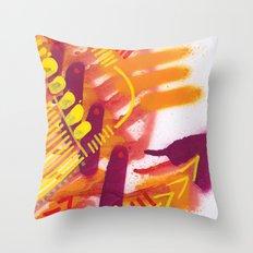 Yellow on Orange Throw Pillow