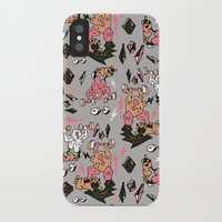 fitness iPhone & iPod Cases featuring Man & Pugs Fitness by Anukun Hamala (NHD)