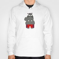 hippo Hoodies featuring Hippo by lescapricesdefilles