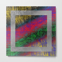 Psychedelic Petrified Wood Metal Print