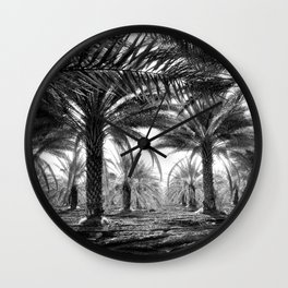 Vintage Palms Trees : Coachela Valley California 1937 Wall Clock
