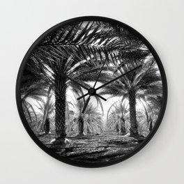 Vintage Palms Trees : Coachela Valley California 1937 Wall Clock
