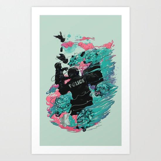 Wolf gang Art Print