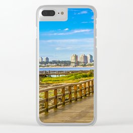 Punta del Este Boardwalk, Uruguay Clear iPhone Case