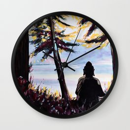 Sitting (View on Pender Island) Wall Clock