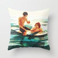 viria Throw Pillows featuring rinharu by viria