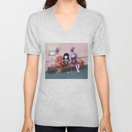 Marceline and Bonnie share a moment Unisex V-Neck