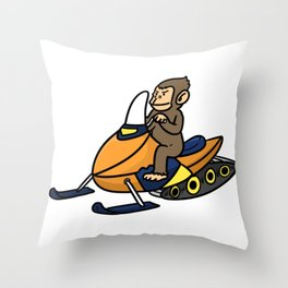 Sled snowmobile gift snow Christmas Throw Pillow