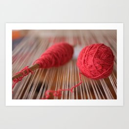 Loom and spindle craft Art Print