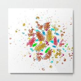 Australian Native Florals - Graphic Metal Print
