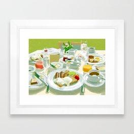 Breakfast at a Hotel Framed Art Print