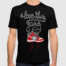 i love this game Black Mens Fitted Tee MEDIUM