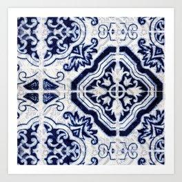 Azulejo VI - Portuguese hand painted tiles Art Print