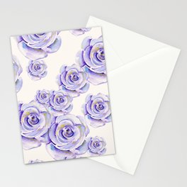 Puple Rose Painting Stationery Cards