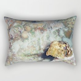 Baby Cuttlefish and Hard Coral Rectangular Pillow