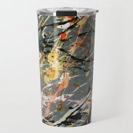 Jackson Pollock Interpretation Acrylics On Canvas Splash Drip Action Painting Travel Mug