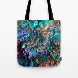 Turquoise Oil Slick Quartz Tote Bag