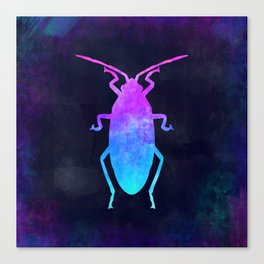 COCKROACH IN SPACE // Animal Graphic Art // Watercolor Canvas Painting // Modern Minimal Cute Canvas Print