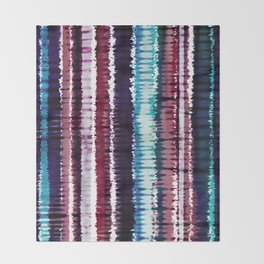 Bohemian Style Tie dye Stripes Design Throw Blanket