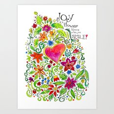 Joy in Your Smile Art Print