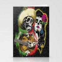 dia de los muertos Stationery Cards featuring Dia de Los Muertos by Kevin Rogerson