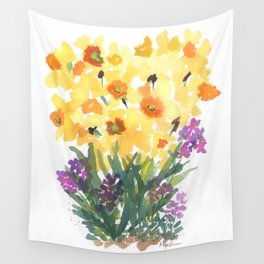 Spring Daffodil Patch Wall Tapestry