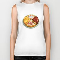 macaroons Biker Tanks featuring To each his own by Chicca Besso