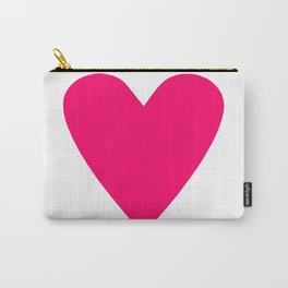 Neon Pink Heart Carry-All Pouch
