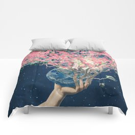 Love Makes The Earth Bloom Comforters