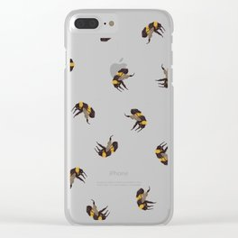 Bumble Bee Pattern Clear iPhone Case
