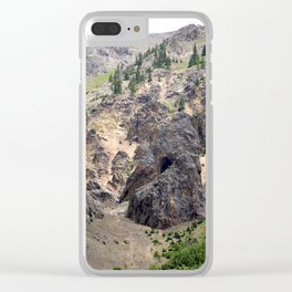 Gold Rush Prospect Hole High Above the Animas River Clear iPhone Case