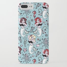 Molly Mermaid vintage pinup inspired nautical tattoo iPhone Case