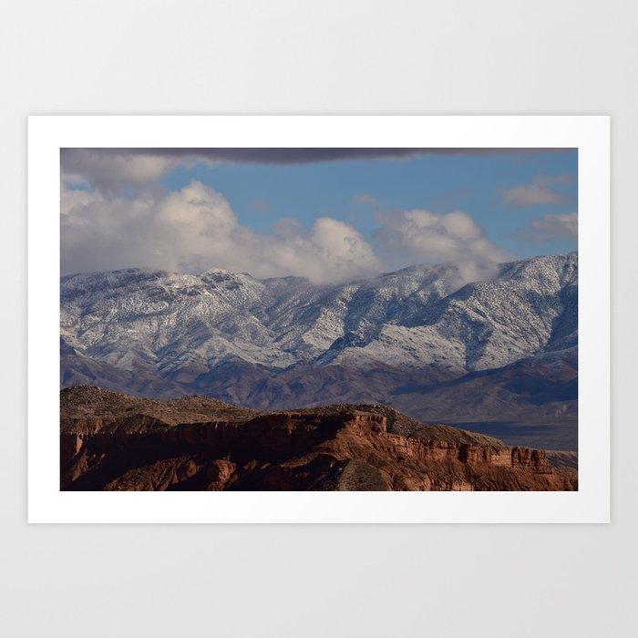 Desert Snow on Christmas - II Art Print