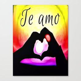 Te amo in Pop-art Canvas Print
