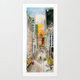 San Francisco at Dusk Art Print